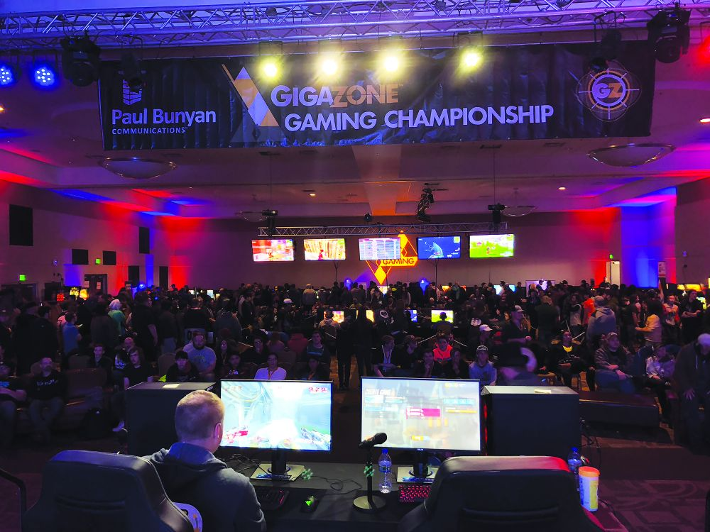 Paul Bunyan Communications host an annual GigaZone Gaming Championship