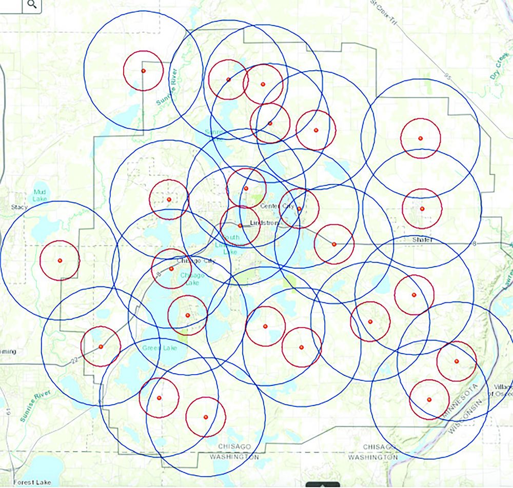 The results of field examination of Frontier's CAF II network deployment for the Lindstrom exchange