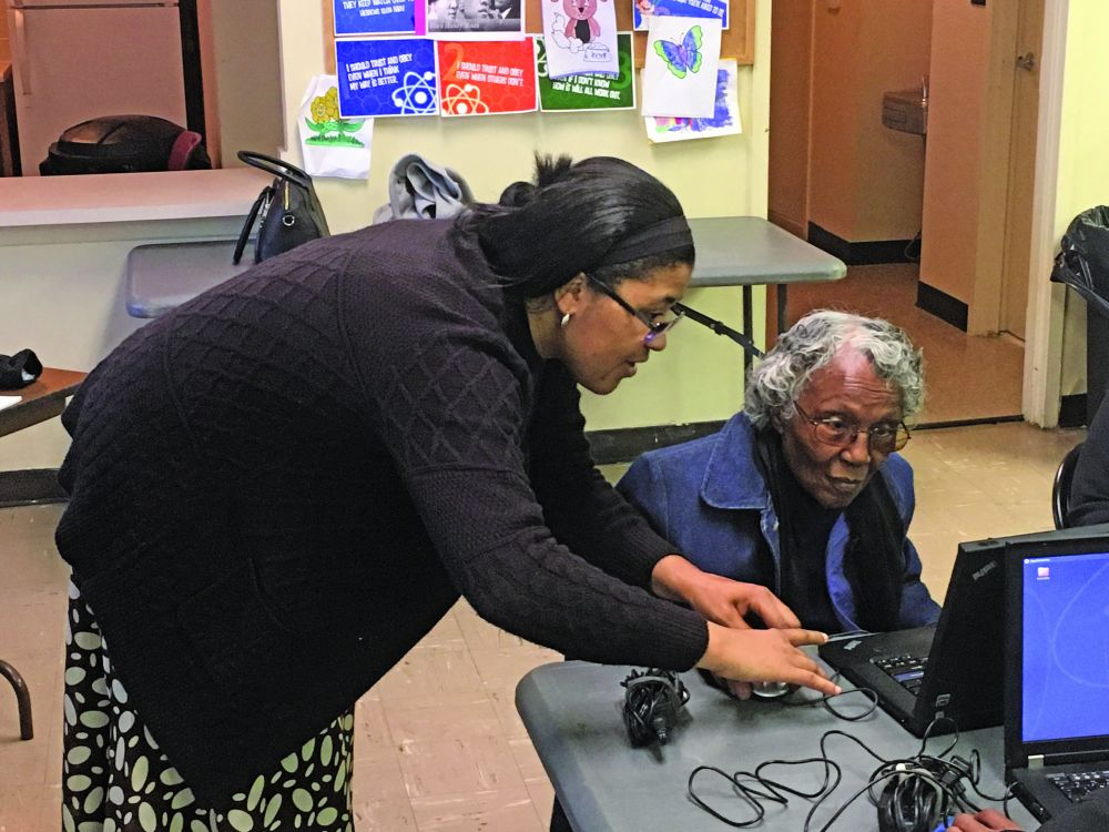 The Wilson (North Carolina) Housing Authority's first digital learning class